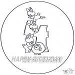 Disegni da colorare Temi - Quarto compleanno!