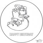 Disegni da colorare Temi - Quinto compleanno!