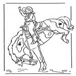 Disegni da colorare Animali - Ragazza a cavallo 2