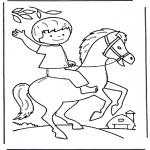 Disegni per i piccini - Ragazzino a cavallo