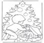 Ragazzino e albero di Natale