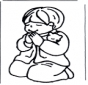 Ragazzino in preghiera