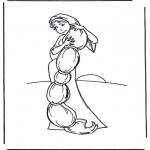 Disegni da colorare Vari temi - Raperonzolo 1