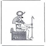 Disegni da colorare Vari temi - Re, dio del sole