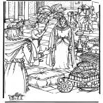 Disegni biblici da colorare - Regina di Sheba