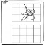 Lavori manuali - Ricopia il disegno ' Kim