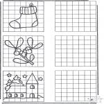 Disegni da colorare Natale - Ricopia il disegno ' Natale 1