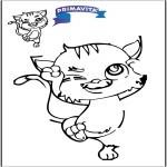Lavori manuali - Ricopia il disegno - Gatto