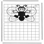 Lavori manuali - Ricopia la farfalla