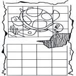 Lavori manuali - Ricopia la tartaruga