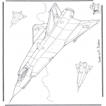 Disegni da colorare Vari temi - Saab J 35 F Draken