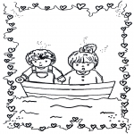 Disegni da colorare Temi - Saint-Valentin - bateau