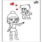Disegni da colorare Temi - San Valentino 13