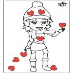 Disegni da colorare Temi - San Valentino 14