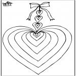 Disegni da colorare Temi - San Valentino - Cuore