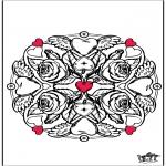 Disegni da colorare Temi - San Valentino - fiori