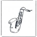 Disegni da colorare Vari temi - Sassofono