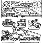 Lavori manuali - Scatola delle immagini costruzione stradale