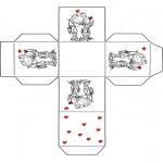 Disegni da colorare Temi - Scatolina San Valentino