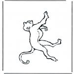 Disegni da colorare Animali - Scimmia 1