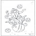 Disegni da colorare Animali - Scimmie su palloni