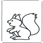 Disegni da colorare Animali - Scoiattolo 1