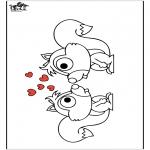 Disegni da colorare Animali - Scoiattolo 2
