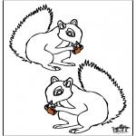Disegni da colorare Animali - Scoiattolo 4