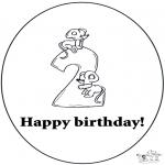 Disegni da colorare Temi - Secondo compleanno!