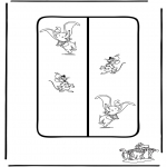 Personaggi di fumetti - Segnalibro Dumbo