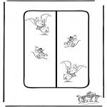 Lavori manuali - Segnalibro - Dumbo