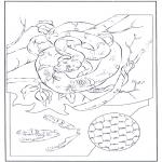 Disegni da colorare Animali - Serpente sullalbero