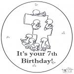 Disegni da colorare Temi - Settimo compleanno!