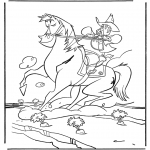Personaggi di fumetti - Sheriff a cavallo