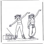 Disegni da colorare Vari temi - Si balla! 2