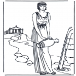 Disegni da colorare Vari temi - Signora Romana 1
