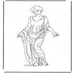 Disegni da colorare Vari temi - Signora Romana 2