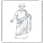 Disegni da colorare Vari temi - Signora Romana 3