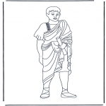 Disegni da colorare Vari temi - Signore Romano