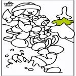 Disegni da colorare Inverno - Slitta 2