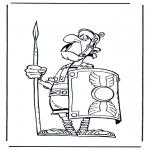 Disegni da colorare Vari temi - Soldato Romano 2