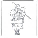 Disegni da colorare Vari temi - Soldato Romano