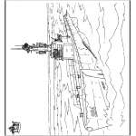 Disegni da colorare Vari temi - Sottomarino