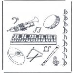Disegni da colorare Vari temi - Strumenti musicali