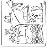 Disegni per i piccini - Sul carro da fieno