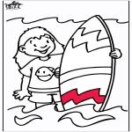 Disegni da colorare Vari temi - Surf
