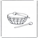 Disegni da colorare Vari temi - Tamburo