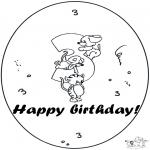 Disegni da colorare Temi - Terzo compleanno!