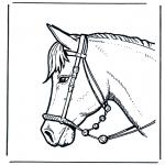 Disegni da colorare Animali - Testa di cavallo 2