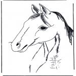 Disegni da colorare Animali - Testa di cavallo 3